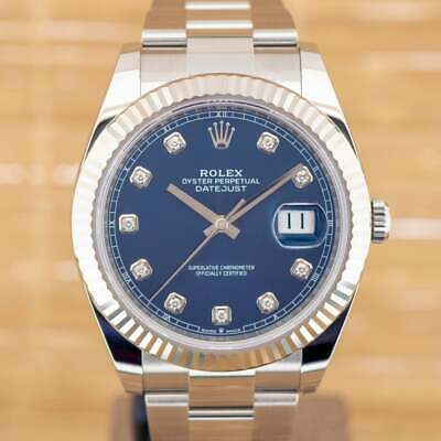 $ CDN19126.15 • Buy Rolex Datejust 41 Diamond - Unworn With Box And Papers April 2021