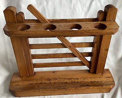 £4.50 • Buy Vintage Wooden Gate Style Pipe Stand / Rack Smoking
