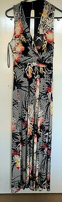 £19.99 • Buy Ladies Phase Eight Black Floral Patterned Maxi Dress Size 8 New