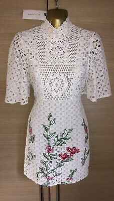 £0.99 • Buy Exquisite Zara New Lace Embroidered Mini Dress UK8 Stunning