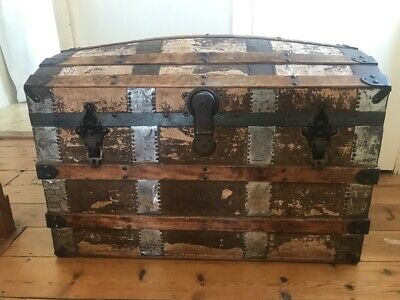 £30 • Buy Vintage Old Fashioned Wooden Trunk Chest