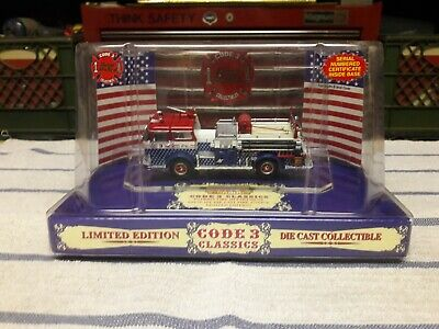 $55 • Buy Code 3 1:64 Mack Fire Engine, Patriot Fire Dept #3. (Red, White And Blue)