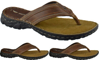 £22.95 • Buy Red Tape Leather Toe Post Sandals Summer Flip Flops Cushioned Beach Walking Shoe