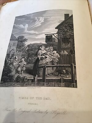 £7 • Buy William Hogarth,  1833 Antique Engraving Print - Times Of The Day - Evening