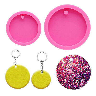 £3.19 • Buy Silicone Round Pendant Keychain Ring Resin Casting Mold Epoxy Jewelry DIY Mould