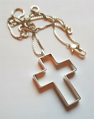 £129 • Buy Gucci Necklace, Silver Cross, Boxed