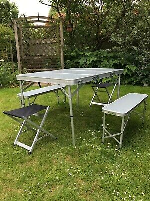 £15 • Buy Eurohike Folding Camping/Picnic Table And Chairs Set