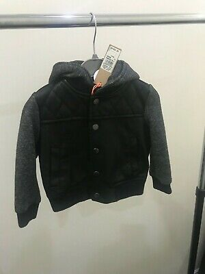 £22 • Buy River Island Black Faux Leather And Grey Unisex Jacket 9-12 Month