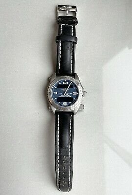 £1850 • Buy Breitling Emergency Blue Dial Wristwatch With Black Leather Strap