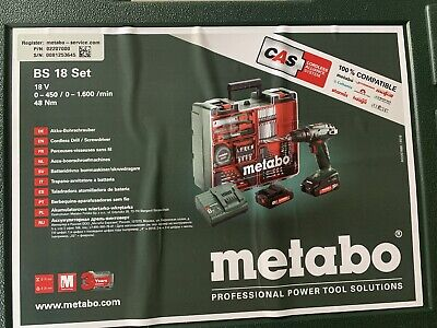 £49 • Buy Metabo Cordless Drill With 2 Batteries