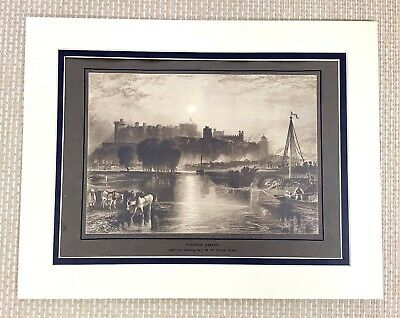 $47.20 • Buy 1915 Antico Stampa Windsor Castle Royal Palazzo Landscape After J M Con Gira R.a