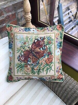 £4.95 • Buy Tapestry Rope Edge Cushion Cover  45cm X 45cm  Butterfly