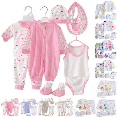 £6.99 • Buy Newborn Baby 5/8 Pcs Layette Unisex Grow Clothes Playsuits T-shirt Pants Outfits