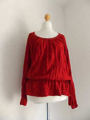 £4.50 • Buy Evening Wedding Cruise Christmas Party Red Quirky Boho Top Soon 20