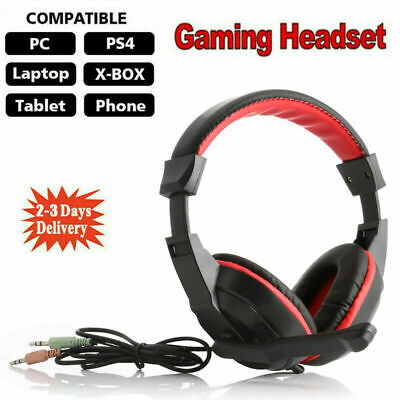£6.99 • Buy New Gaming Headset USB Wired Over Headphones Stereo Mic For Xbox One/PS4 PC PS5