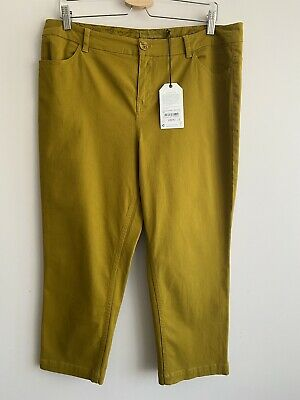 £35 • Buy New Seasalt Albert Quay Crops Trousers Size 14 Pear Yellow/Green Stretch