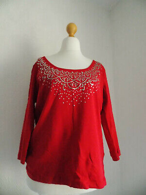 £3.50 • Buy Cute Boho Eveing Wedding Cruise Christmas Party Red Beaded Sparkly Top Soon 20