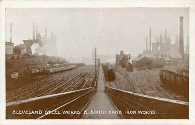 £10 • Buy Real Photo Postcard Of Cleveland Steel Works, Middlesbrough, North Yorkshire