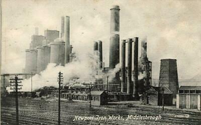 £8 • Buy Real Photo Postcard Of Newport Iron Works, Middlesbrough, North Yorkshire