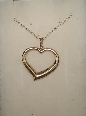 £30 • Buy 9ct 375 Yellow Gold Delicate Heart Pendant Necklace