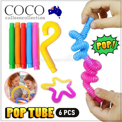 AU10.50 • Buy New 6cs Fidget Pop Tube Toys For Kids And Adults, Pipe Sensory Tools Relief AU