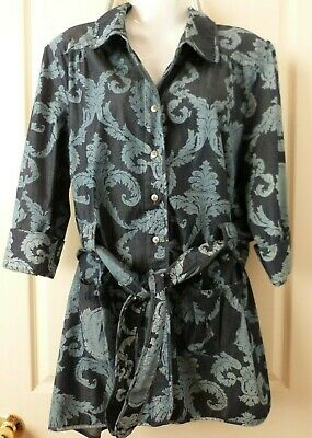 AU39.95 • Buy Tigerlily Sz 12 Ladies Jacket Blue Chambray Rococo Design New With Tags