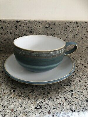 £12.50 • Buy Denby Azure Coast Tea/Coffee Cup And Saucer -excellent