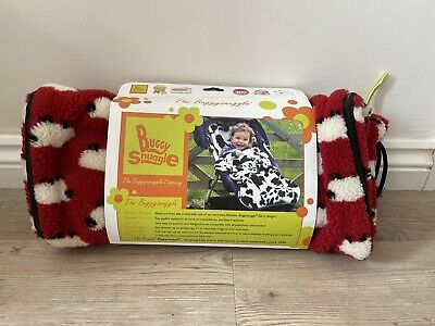 £14 • Buy Buggy Snuggle Footmuff. Red Fleece With White Sheep Decoration.
