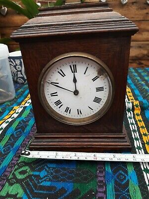 £12 • Buy Antique/Vintage Wooden 8 Day Wind Up Mantel French Made Clock