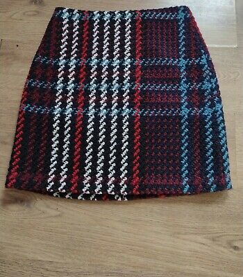 £14.50 • Buy Marks And Spencer Dogtooth Check Skirt A-line Size 12