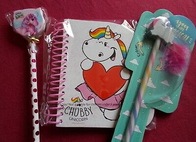 £2.50 • Buy Unicorn Party Pack Game/pass The Parcel Prizes: 3x Pencil Sets