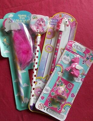 £2.50 • Buy Unicorn Party Pack Game/pass The Parcel Prizes: 4 X Pencil Sets