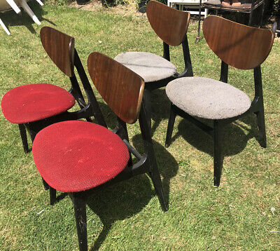 £99 • Buy Vintage 1950's E Gomme G Plan Librenza Tola Butterfly Dining Chairs X 4