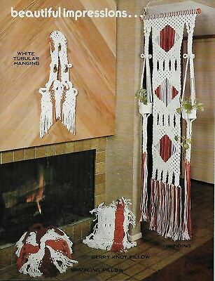 $8.97 • Buy Vintage Macrame Pattern Book 15 Projects Home Decor Pillows Plant Wall Hanger