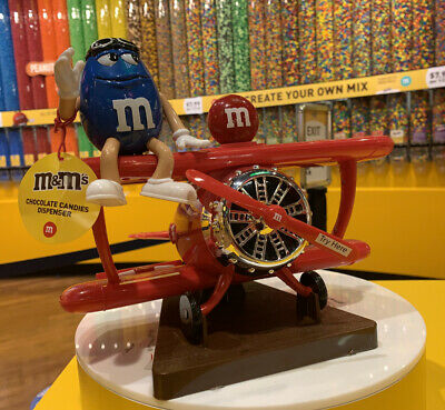 £53.24 • Buy M&M's World RED Airplane Plane Chocolate Candy Dispenser Excellent Gift Favor