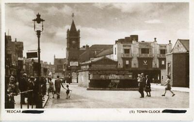 £15 • Buy Real Photo Postcard Of Redcar In Wartime - The Town Clock, North Yorkshire