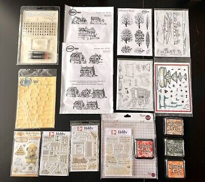 £8.50 • Buy Joblot Clear Rubber Stamps With Ink Pads And Large Stamping Tool, All Brand New