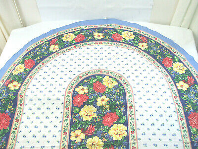 £17.66 • Buy Provence French Country Floral Oval Tablecloth Blue Yellow Red Flowers 62  X 82
