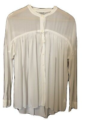 AU15 • Buy Country Road Cream Long Sleeved Blouse Size M