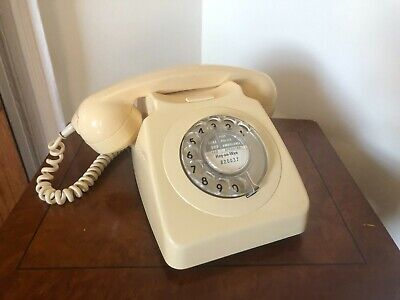 £20 • Buy Vintage GPO Cream Rotary Dial Telephone 746F - 70's Converted ( Spares Or Repair