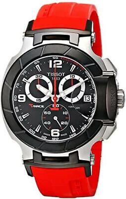 £211.76 • Buy Tissot Men's T0484172705701 T-Race Watch With Red Rubber Band