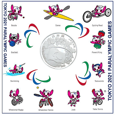 £8.95 • Buy 2020 Tokyo Paralympics Games Coin+2021paralympic Display Card (brand New)