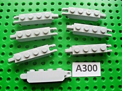 £2.79 • Buy Lego Genuine Light Grey 4x1 Lego Brick With End Hinge/clamp 7 Pieces (a300)