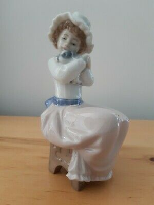 £15 • Buy Nao Girl With Puppy In Excellent Condition No Damage Seated On Stool Vintage Nao