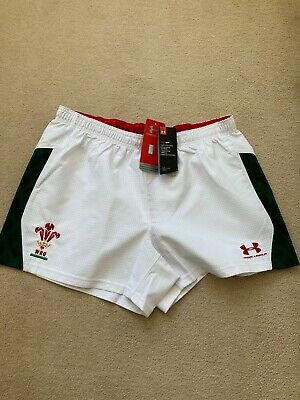 £22.99 • Buy  Under Armour WRU Match Issue Airvent  Welsh Rugby Away Shorts -BNWT-Rare