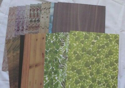 £5 • Buy 24 Sheets Patterned Craft Paper A4 Good Quality Leaves Wood Grain Marble Effects
