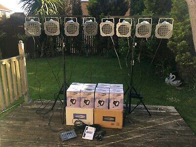 £200 • Buy Showtec Par56 Led Lights, Stands And Controller Ideal Band Or Disco Boxed