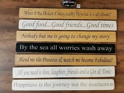 £15 • Buy Shabby Chic Wooden Signs Humour Inspirational