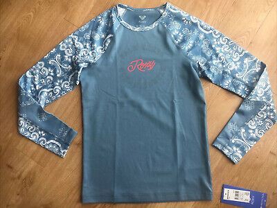 £15.99 • Buy BNWT Girls Roxy Long Sleeved Sun Protection Top UPF50+, Blue, Age 13-14. RRP £30
