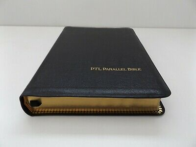 £39 • Buy 1984 Parallel HOLY BIBLE King James Version & The Living Bible GENUINE LEATHER